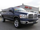 2007 Patriot Blue Pearl Dodge Ram 1500 Big Horn Edition Quad Cab #12804597