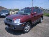 2004 Merlot Red Hyundai Santa Fe GLS 4WD #12808546