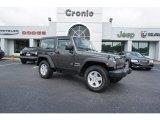 2017 Granite Crystal Metallic Jeep Wrangler Sport 4x4 #128306850