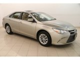 2015 Creme Brulee Mica Toyota Camry LE #128331900