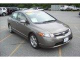 2007 Galaxy Gray Metallic Honda Civic EX Sedan #12811370