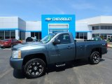2010 Blue Granite Metallic Chevrolet Silverado 1500 Regular Cab 4x4 #128356634