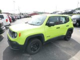 Solar Yellow Jeep Renegade in 2017