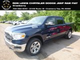 2019 Patriot Blue Pearl Ram 1500 Big Horn Crew Cab 4x4 #128478293