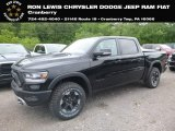 2019 Diamond Black Crystal Pearl Ram 1500 Rebel Crew Cab 4x4 #128542579