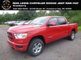 2019 Flame Red Ram 1500 Big Horn Crew Cab 4x4 #128602124