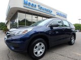 2015 Obsidian Blue Pearl Honda CR-V LX AWD #128602291