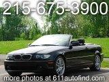 2004 Jet Black BMW 3 Series 330i Convertible #12861979