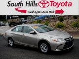 2015 Creme Brulee Mica Toyota Camry LE #128632832