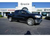 2019 Diamond Black Crystal Pearl Ram 1500 Tradesman Crew Cab #128671126