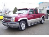 2004 Sport Red Metallic Chevrolet Silverado 1500 Z71 Extended Cab 4x4 #12843473