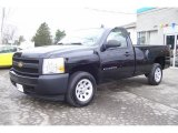 2008 Black Chevrolet Silverado 1500 Work Truck Regular Cab #12843469