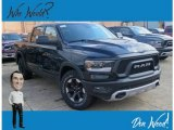 2019 Diamond Black Crystal Pearl Ram 1500 Rebel Crew Cab 4x4 #128737652