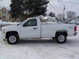 2009 Summit White Chevrolet Silverado 1500 LS Regular Cab 4x4 #12843411