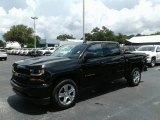 2018 Black Chevrolet Silverado 1500 Custom Crew Cab 4x4 #128766342