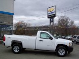 2009 Summit White Chevrolet Silverado 1500 Regular Cab 4x4 #12843425