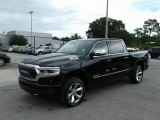 2019 Diamond Black Crystal Pearl Ram 1500 Limited Crew Cab 4x4 #128793281