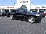 2019 Diamond Black Crystal Pearl Ram 1500 Big Horn Quad Cab #128814570