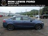 2018 Blue Metallic Ford Fusion SE #128814520