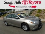 2015 Creme Brulee Mica Toyota Camry LE #128837685