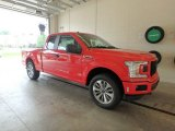 2018 Race Red Ford F150 STX SuperCab 4x4 #128866732