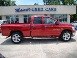 2007 Inferno Red Crystal Pearl Dodge Ram 1500 SLT Quad Cab #12857647