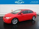 2007 Rallye Red Honda Civic Si Sedan #128891768