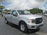 2018 Ingot Silver Ford F150 XL Regular Cab #128967068