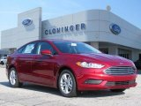 2018 Ruby Red Ford Fusion SE #128996893