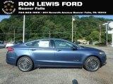 2018 Blue Metallic Ford Fusion Hybrid SE #129017790