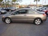2007 Galaxy Gray Metallic Honda Civic EX Coupe #12856512
