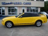 2006 Screaming Yellow Ford Mustang V6 Premium Convertible #12857640