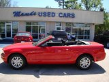 2007 Torch Red Ford Mustang V6 Deluxe Convertible #12857681
