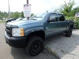 2009 Blue Granite Metallic Chevrolet Silverado 1500 Crew Cab 4x4 #129118508