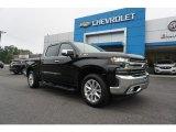 2019 Black Chevrolet Silverado 1500 LTZ Crew Cab 4WD #129209071