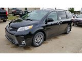 2019 Midnight Black Metallic Toyota Sienna XLE #129293344