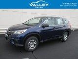 2015 Obsidian Blue Pearl Honda CR-V LX AWD #129334313