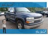 2000 Indigo Blue Metallic Chevrolet Silverado 1500 LS Extended Cab 4x4 #129351217