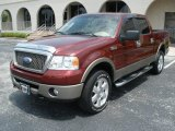 2006 Dark Toreador Red Metallic Ford F150 Lariat SuperCrew 4x4 #12931221