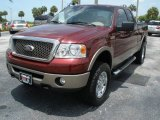 2006 Dark Toreador Red Metallic Ford F150 Lariat SuperCab 4x4 #12931223