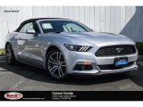 2017 Ingot Silver Ford Mustang EcoBoost Premium Convertible #129419471