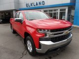 2019 Red Hot Chevrolet Silverado 1500 LT Crew Cab 4WD #129495983