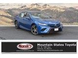 2019 Blue Streak Metallic Toyota Camry SE #129592480