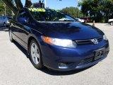 2007 Atomic Blue Metallic Honda Civic EX Coupe #129616379