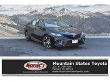 2019 Midnight Black Metallic Toyota Camry SE #129616184