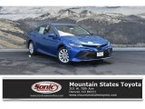 2019 Blue Streak Metallic Toyota Camry LE #129616181