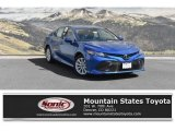 2019 Blue Streak Metallic Toyota Camry LE #129642722
