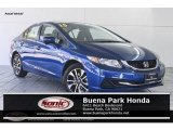 2015 Dyno Blue Pearl Honda Civic EX Sedan #129697331