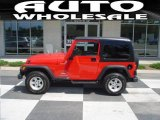 2006 Flame Red Jeep Wrangler Sport 4x4 #12962413