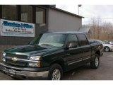 2004 Dark Green Metallic Chevrolet Silverado 1500 LS Crew Cab 4x4 #12958132